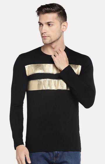 globus | Black and Gold Colourblock T-Shirt