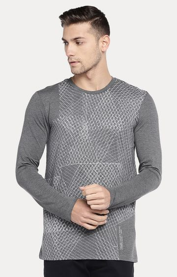 globus | Grey Checked T-Shirt