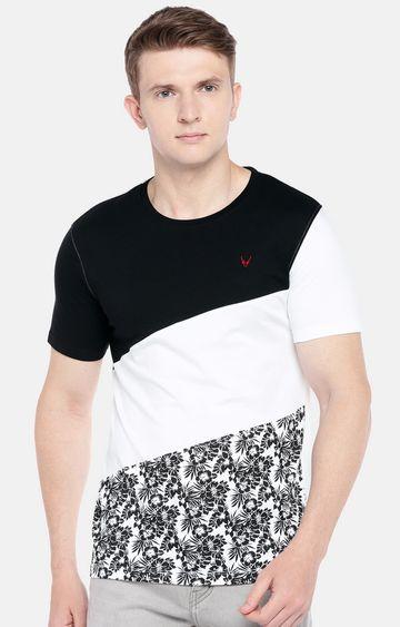 globus | Black and White Colourblock T-Shirt