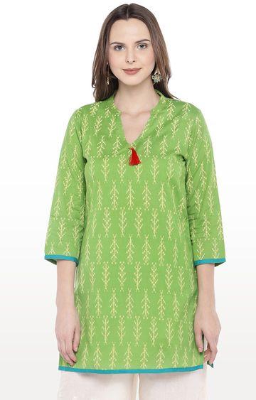 globus   Green Printed Kurti