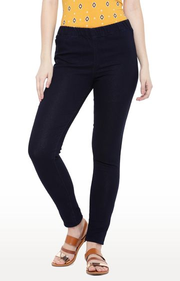 globus | Navy Blue Solid Straight Jeans