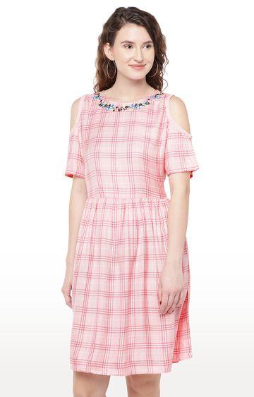 globus | Pink Printed Skater Dress