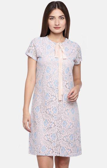 globus | Pink Solid Shift Dress
