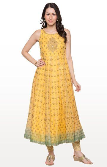 globus | Yellow Embellished Anarkali