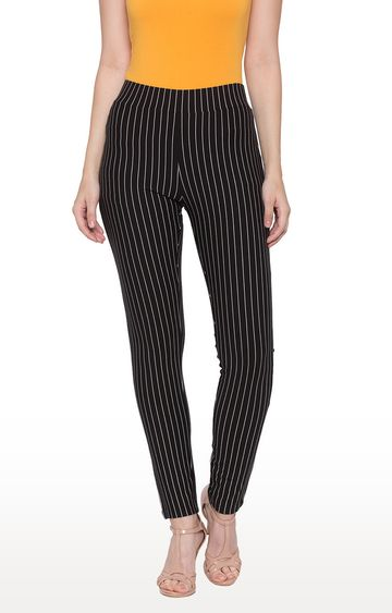 globus | Black Striped Jeggings