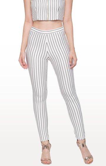 globus | White Striped Jeggings