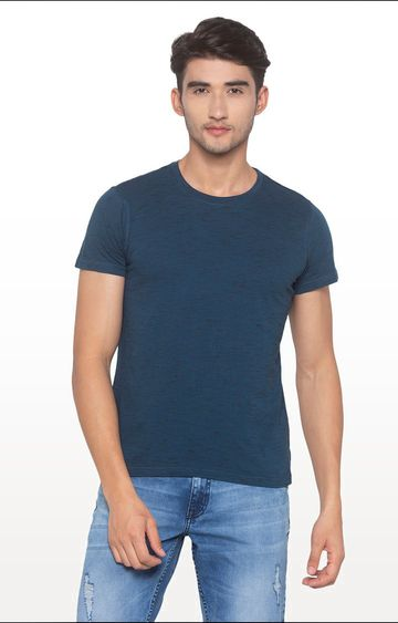 globus | Blue Solid T-Shirt