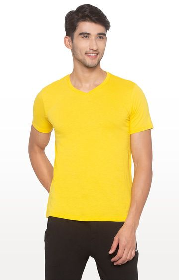 globus | Yellow Solid T-Shirt