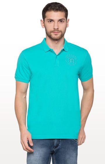 globus | Sea Green Solid Polo T-Shirt