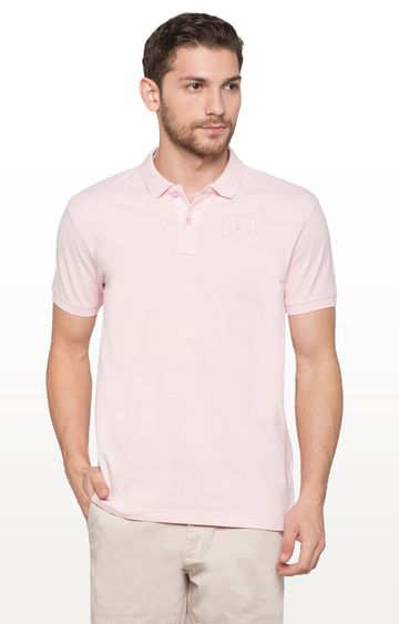 globus | Pink Solid Polo T-Shirt