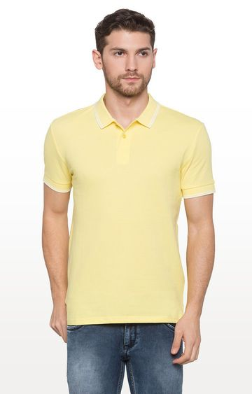 globus | Yellow Solid Polo T-Shirt