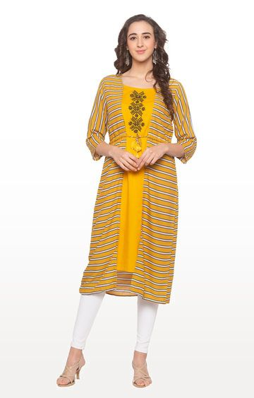 globus | Yellow Striped Kurta
