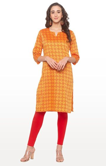globus | Yellow Printed Kurta