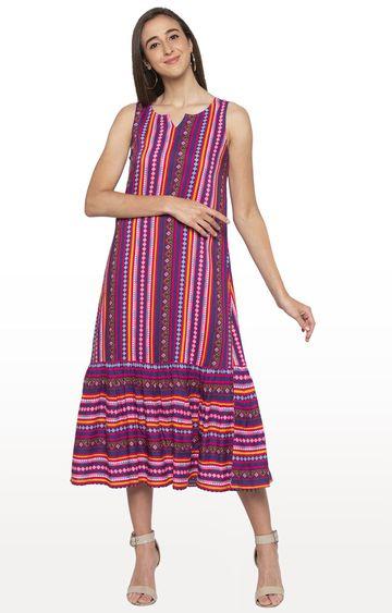 globus | Pink Printed Maxi Dress