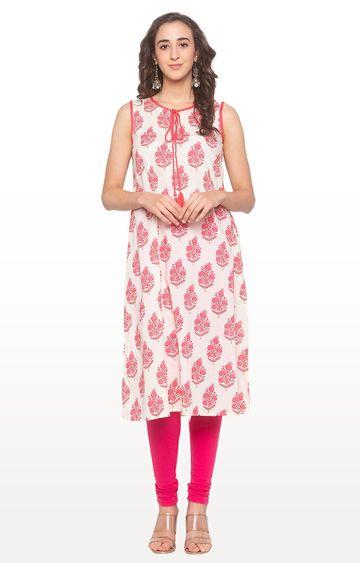 globus | Pink Printed Kurta