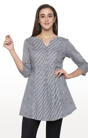 globus | Grey Printed Tunic
