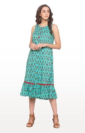 globus   Blue Printed Shift Dress