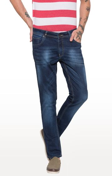 globus | Blue Solid Straight Jeans