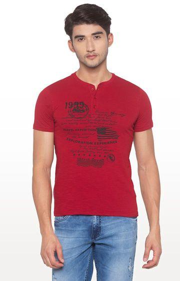 globus | Red Printed T-Shirt
