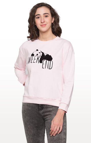 globus | Pink Printed Sweatshirt