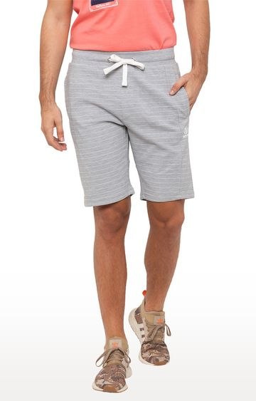 globus | Grey Striped Shorts
