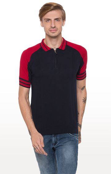 globus | Navy Solid Polo T-Shirt