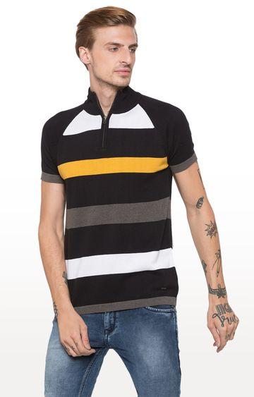 globus | Black Striped T-Shirt