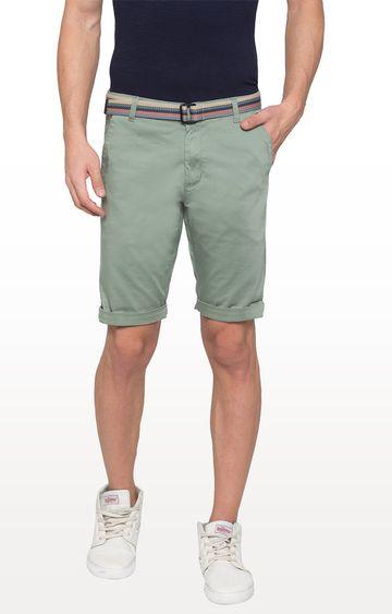 globus   Green Solid Shorts