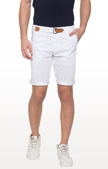 globus | White Solid Shorts