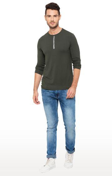 globus | Green Solid T-Shirt
