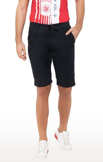 globus | Black Solid Shorts
