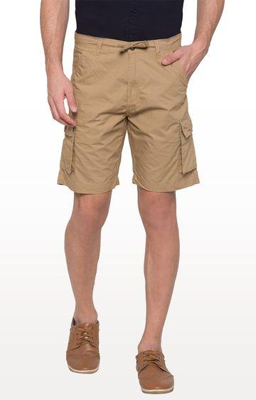 globus | Beige Solid Shorts