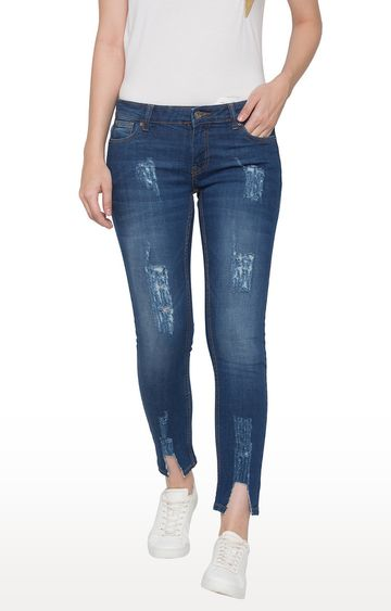 globus | Blue Ripped Cropped Jeans