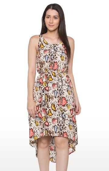 globus   Multicoloured Printed Asymmetric Dress