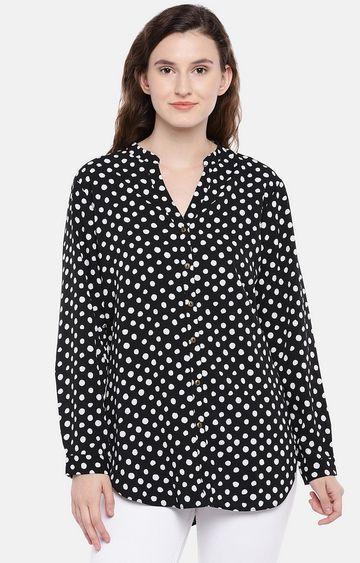 globus | Black Polka Dots Casual Shirt