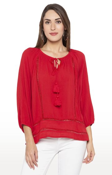 globus | Red Solid Top