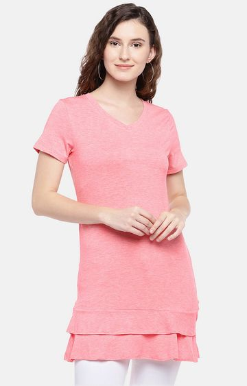 globus   Pink Melange Tunic