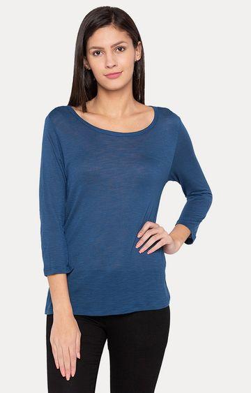 globus   Blue Solid T-Shirt
