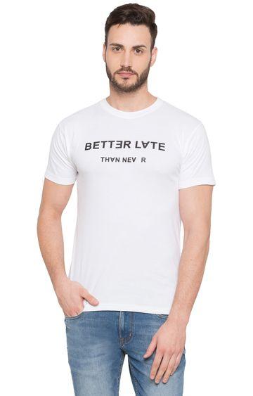 globus | White Printed T-Shirt