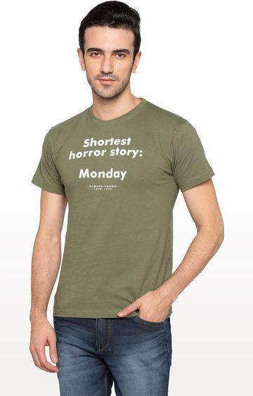 globus   Green Printed T-Shirt
