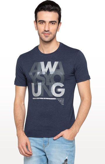 globus | Blue Printed T-Shirt