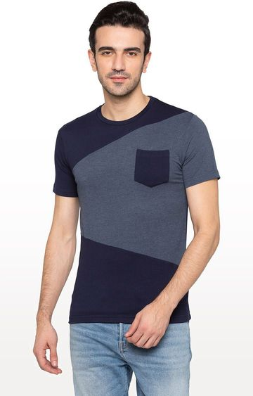 globus | Blue Colourblock T-Shirt