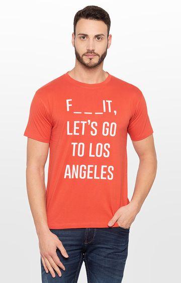 globus | Orange Printed T-Shirt