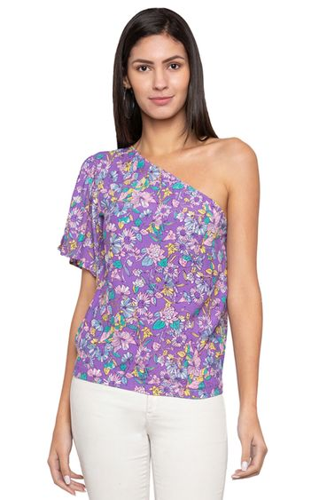 globus | Purple Floral Top