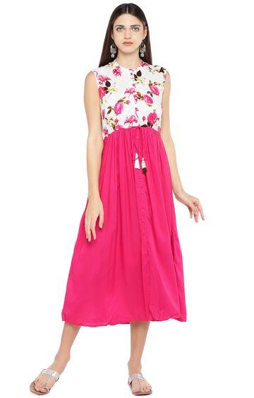 globus   Pink Floral Shift Dress