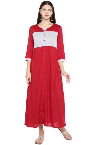 globus | Red Striped Maxi Dress