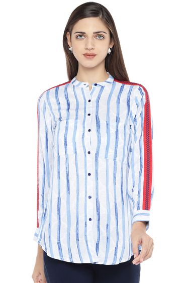 globus | Blue Striped Top