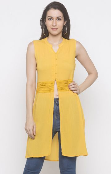 globus | Yellow Solid Tunic