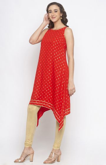 globus | Red Printed Tunic