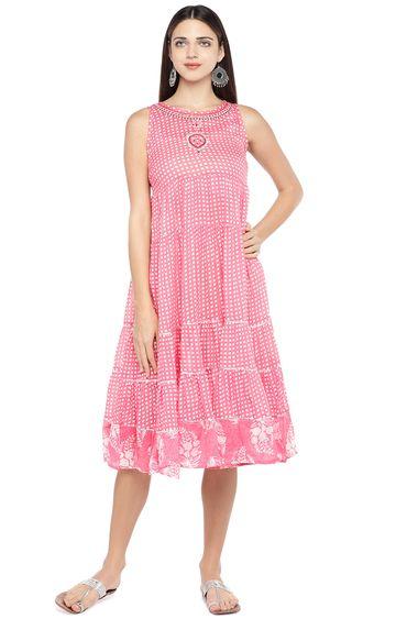 globus | Pink Checked Skater Dress
